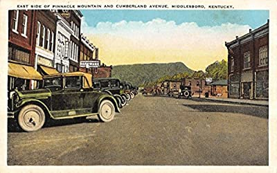 Middlesboro Kentucky east side Pinnacle Mtn Cumberland Ave antique pc Y8099