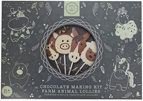 Petite Sweet Chocolate Making Kit Makes 4 X Farm Animal Lollies Belgian Chocolate