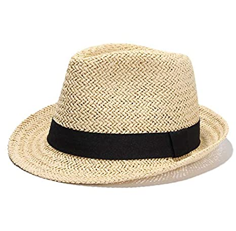 53de74cc715 Image Unavailable. Image not available for. Color  ALWLj Casual Hollow Out  Raffia Straw Hat for Women and Men Summer Beach Hat Panama Visor