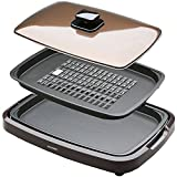 IRIS OHYAMA grilled style hot plate (two) APA-134-T (Brown)