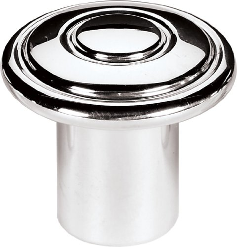 (Billet Specialties 26002 Polished Classic Dash Knob for 3/16
