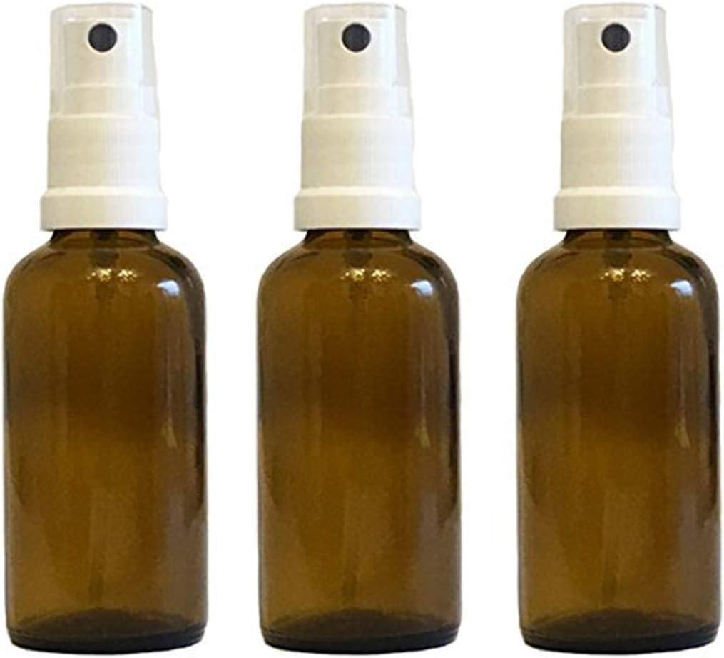 Farmacia de pulverizador de color marrón cristal vaporizador Efecto 3piezas | cantidad de relleno 50ml | botellas de cristal pequeñas (fabricado en Alemania.
