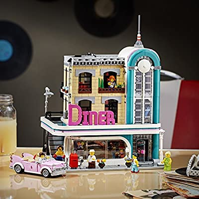 LEGO Creator Expert Downtown Diner 10260 Building Kit, Model Set and Assembly Toy for Kids and Adults (2480 Pieces): Toys & Games
