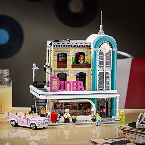 LEGO Creator Expert Downtown Diner 10260 Building Kit, Model Set and Assembly Toy for Kids and Adults (2480 Pieces)
