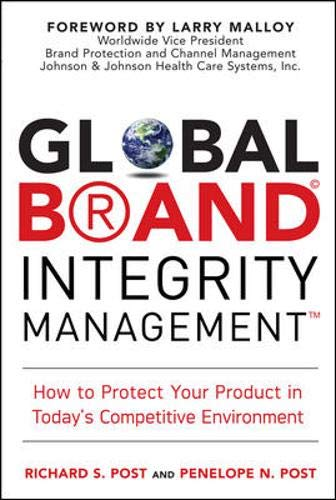 Global Brand Integrity Management: How to Protect Your Product in Today's Competitive Environment