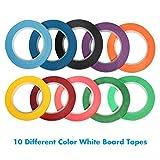 """Selizo 10 Rolls 1/8"""" Whiteboard Pinstripe Tape"""