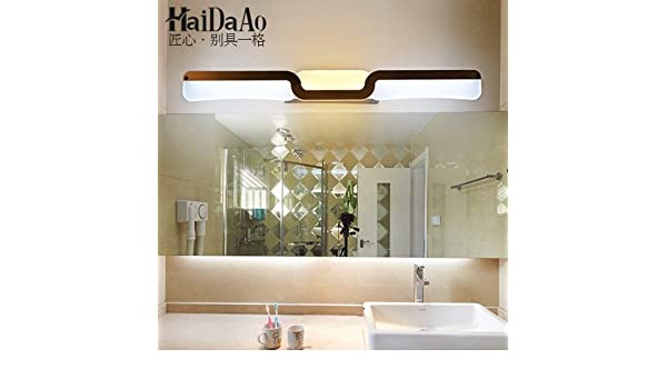 BOOTU lámpara LED y luces de pared Led frontal baño baño espejos para maquillaje de lámpara Lámpara de Pared espejo anti-vaho impermeable led, largo 49cm pequeña: Amazon.es: Iluminación