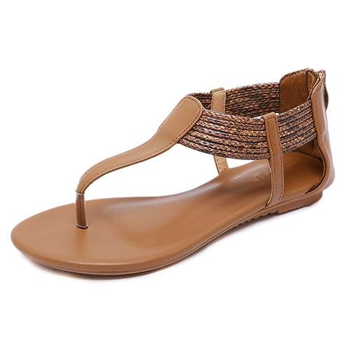 62ae8c42 Dreneco Sandalias Romanas para Mujer de Estilo Peep Toe, Sandalias con  Diseño de Verano Sandalias
