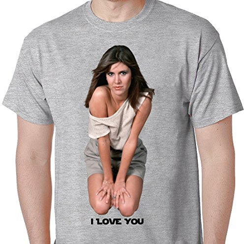 [Star Wars Princess Leia Quote I Love You Sexy Princess Laya T Shirt Large Grey] (Star Wars Leia Sexy)
