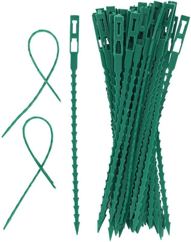 nobrand 50pcs//Set Adjustable Plastic Plant Vines Ties Reusable Cable Tie for Garden Tree Climbing Support