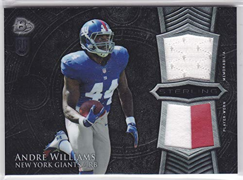 (2014 BOWMAN STERLING ANDRE WILLIAMS DUAL JERSEY PATCH ROOKIE)