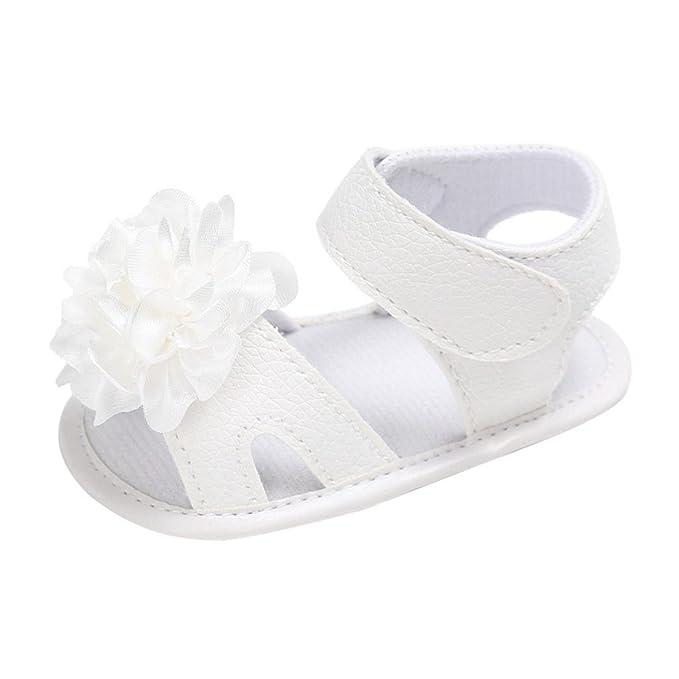 Sandalias niña ❤️Xinantime Zapatos para cuna de niña pequeña Sandalias antideslizantes con suela suave y flor recién nacida Zapatillas de bebe: Amazon.es: ...