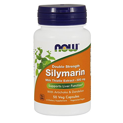 NOW Supplements, Silymarin Milk Thistle Extract 300 mg with Artichoke and Dandelion, Double Strength, Supports Liver…