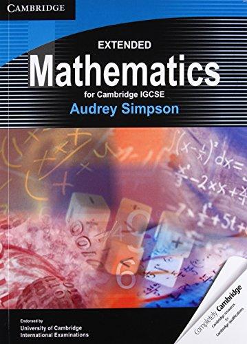 Extended Mathematics for Cambridge IGCSE (Cambridge International IGCSE)