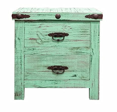 Rustic Painted Reclaimed Wood Nightstand, End Table, Bedside Table, Real  Wood
