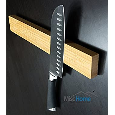 +Sale+ 15 Inch Bamboo Magnetic Knife Holder Wood Quality Wood Magnetic Knife Strip Eco-Friendly Magnetic Knife Bar
