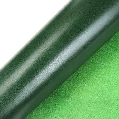 WUTA Waxed Veg Tanned Leather Veg Tan Cowhide Finished Full Grain Leather Drum Dye,Green 12X12 inch