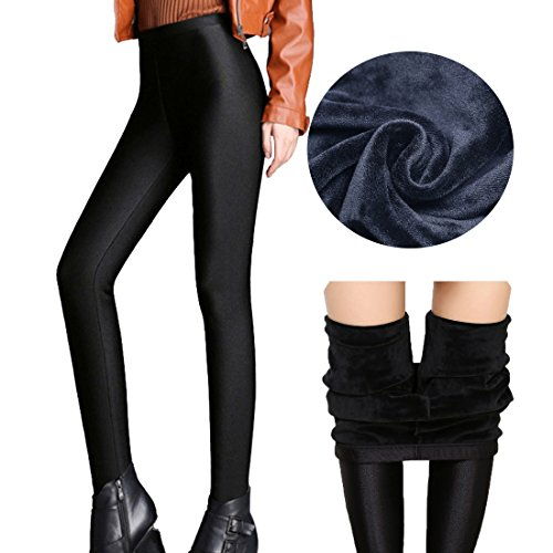 5d28ef8b6f5 60%OFF Romastory Women s Winter Warm Shiny Leggings Elastic Thick Velvet Pants  Tights
