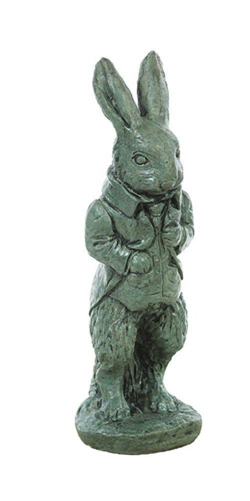 Solid Rock Stoneworks Tuxedo Rabbit Stone Statue 21in Tall Indigo Color