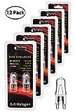 Brite Innovations G9 Halogen Bulb, 60 Watt – 12 Pack – Energy Saving - Dimmable - Soft White 2700K - 120V - Q40, CL, T4 JD Type, Clear Light Bulb