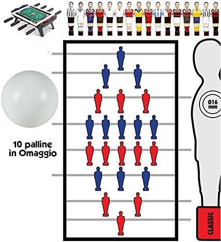 Futbolín Juego barras telescópicas (16 mm clasificados) con ...