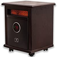 Heat Storm HS-1500-ILOD Logan Deluxe Infrared Space Heater, Remote Control, Built in Thermostat and Overheat Sensor - 750-1500 Watt