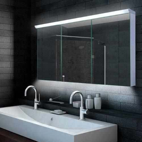 Spiegelschrank Bad Mit Beleuchtung aqua design badezimmer spiegelschrank mit led beleuchtung 120 x
