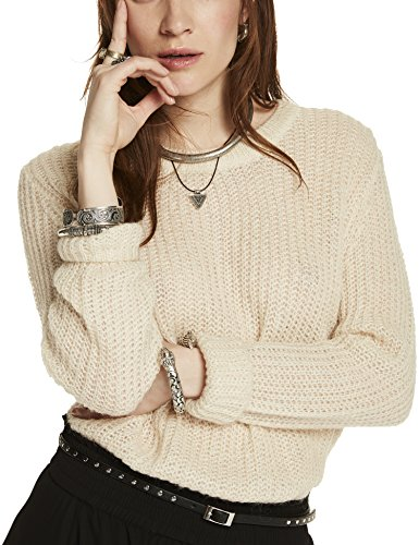 Scotch & Soda Maison Fluffy Crew Neck Pullover Knit, Suéter para Mujer Weiß (Off White 01)