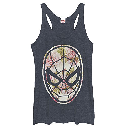 spider-man+tank+tops Products : Marvel Spider-Man Floral Print Womens Graphic Racerback Tank