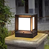Modeen European Simplicity LED Acrylic Column Lamp Outdoor Waterproof Table Lamp E27 Decoration Courtyard Door Light Fence Door Villa Balcony Street Light Post Light (Size : S)