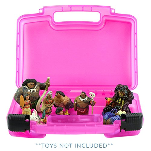 Life Made Better Moana Doll Case, Toy Storage Carrying Box. Figures Playset Organizer. Accessories Kids LMB