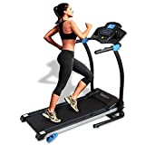 SereneLife Smart Digital Manual Incline Treadmill - Slim Folding Electric 2.5 HP Indoor Home Foldable Fitness Exercise Running Machine with Downloadable App, MP3 Player, Safety Key SLFTRD25
