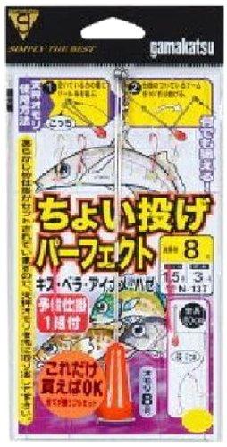 がまかつ(Gamakatsu) 仕掛け チョイ投ゲパーフェクト仕掛 2本 流線袖(赤・金) 11-3号 N-137 45581の商品画像