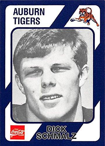 Dick Schmalz football card (Auburn Tigers) 1989 Collegiate Collection Coca Cola #228 by Autograph Warehouse