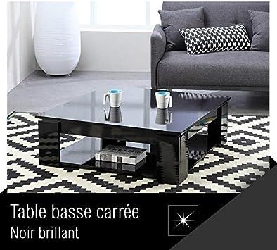 basse style noir cm MANHATTAN xl brillant 89 Table contemporain carrée 89 L F1clJK
