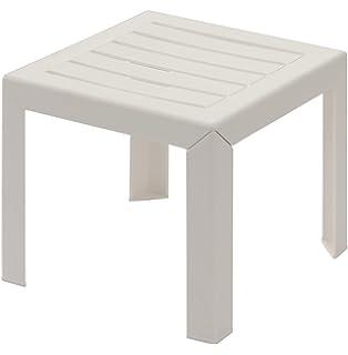 Gbshop Table basse blanche en plastique pour intérieur / extérieur ...