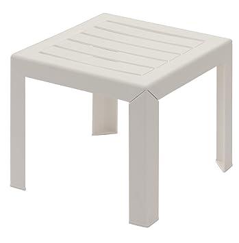 GROSFILLEX Miami Table, Blanc, 40 x 40 cm: Amazon.fr: Jardin