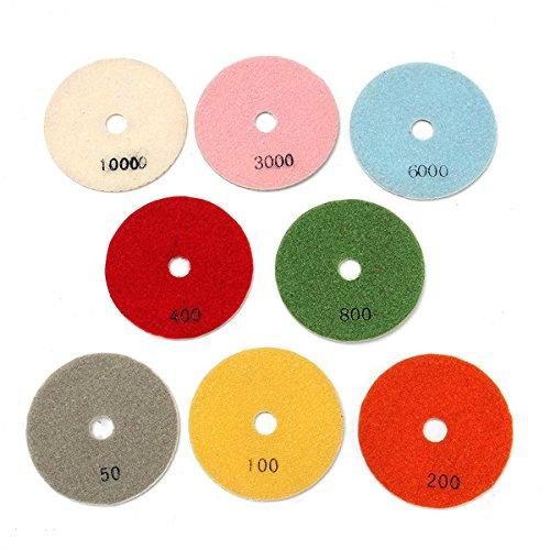 b/éton pierre ChenXi Shop Lot de 16 disques de polissage diamant 10/cm grain 50//à 10000/pour granit marbre
