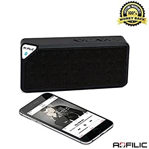 Wireless Bluetooth Speaker, Flash SALE, Cheap Powerful Top Boombox Stereo Rated Sound, Sony Portable, Works Best For iPhone, iPad, Samsung, iHome 3.5MM Auxiliary Input with Mini Adapter and Great for Outdoors, HD Bose Bass, Car Hands Free - Black