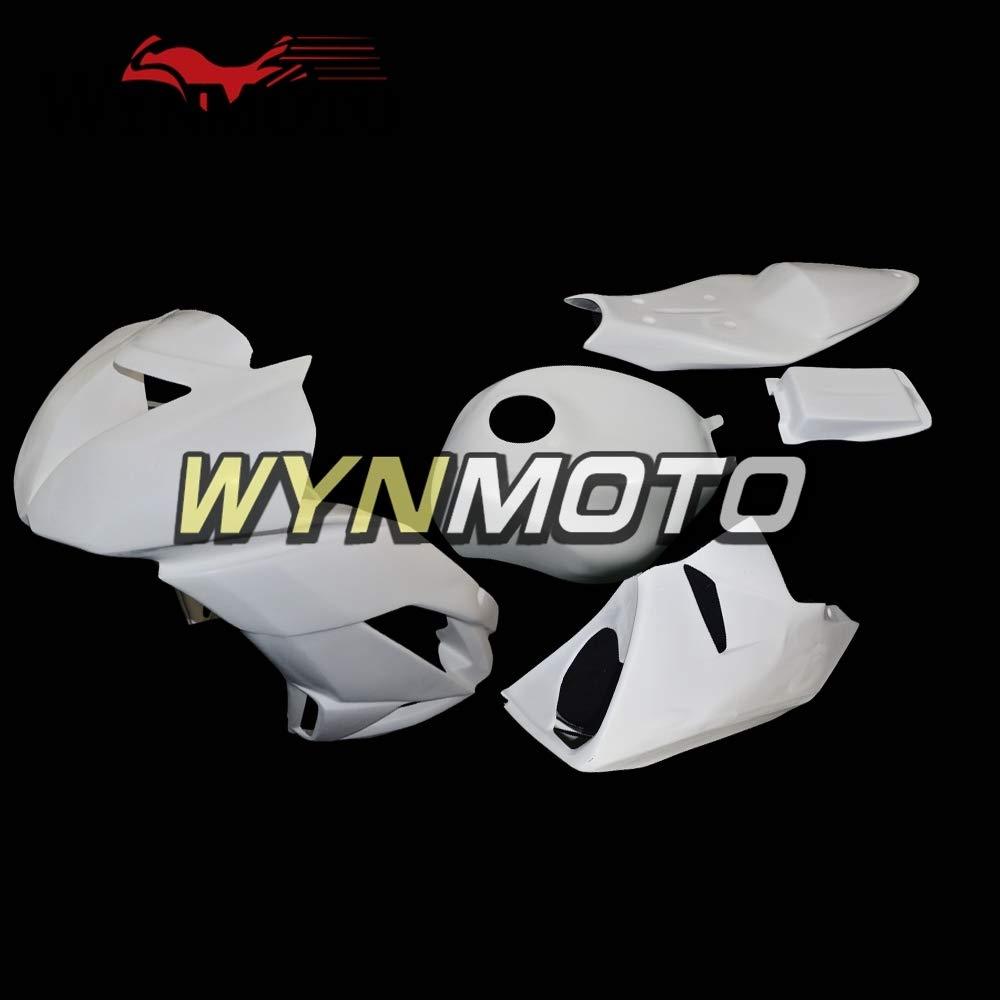 WYNMOTO未塗装ファイバーグラスレーシングコンプリートフェアリングキット、川崎ZX6R用636 2009 2010 2011 2012オートバイ裸ファイバーグラスフェアリングガラス繊維車体   B07MMYZ26L