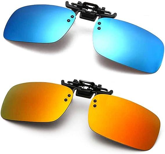 Black Pilot Unisex Sunglasses Clip On Flip Up Fishing Glasses UV400 Protective