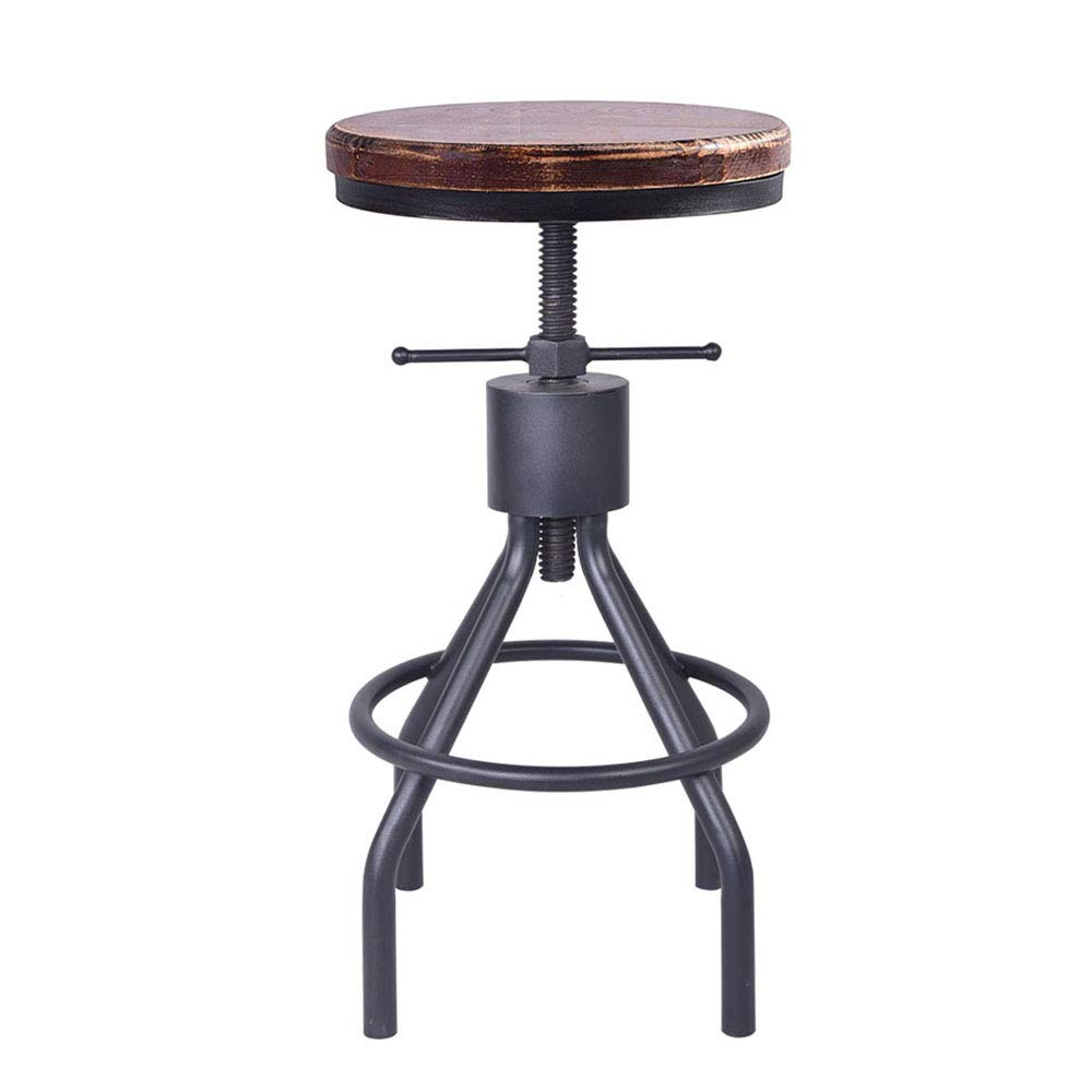 Industrial Swivel Bar Stool Extra Tall Counter Coffee Kitchen Dining Chair American Style Height Adjustable 22-30inch