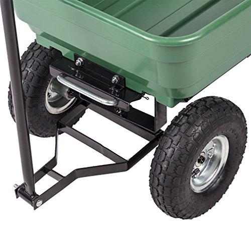 BestMassage Garden Cart Patio Outdoor Heavy Duty Poly Garden Utility Yard Dump Cart Garden Cart Wheel Barrow by BestMassage (Image #5)