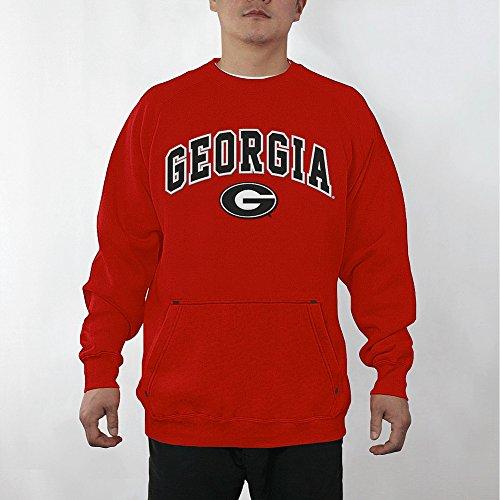 Elite Fan Shop Georgia Bulldogs Crewneck Sweatshirt Captain Red - XL ()