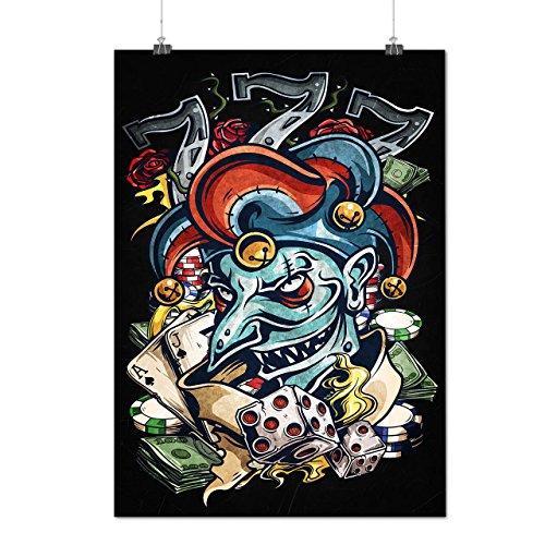 Clown Dice Poker Horror Matte/Glossy Poster A2 (60cm x 42cm) | Wellcoda - Scully Mulder Costume