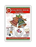 Merry Christmas Volume 03 : Adult coloring book by Prajakta P, spiral bound coloring book with stress relieving patterns for all