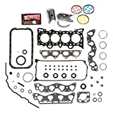 Evergreen Engine Rering Kit FSBRR4029EVE 96-00 Honda Civic 1.6 D16Y5 D16Y7 Full Gasket Set, 0.25mm / 0.010'' Oversize Main Rod Bearings, 0.50mm / 0.020'' Oversize Piston Rings