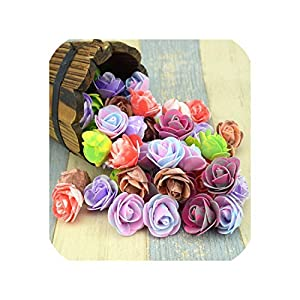 10PCS/lot 3.5cm Mini PE Foam Artificial Rose Flower Head Scrapbooking for Wedding Home, 13