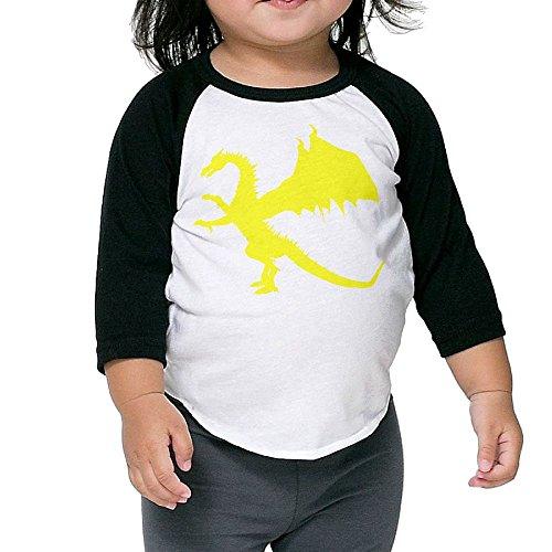 [Dragon Kid's Sleeve Raglan Clothes Unisex 3 Toddler Design] (Infant Toto Dog Costume)