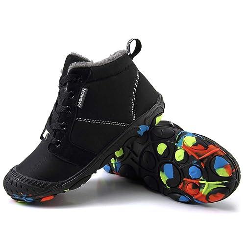 9654193f Botas De Nieve Niño Niña Botines Zapatos Invierno Cortas Fur Aire Libre  Boots Tobillo Boots Cordones Planas Invierno Zapatos: Amazon.es: Zapatos y  ...